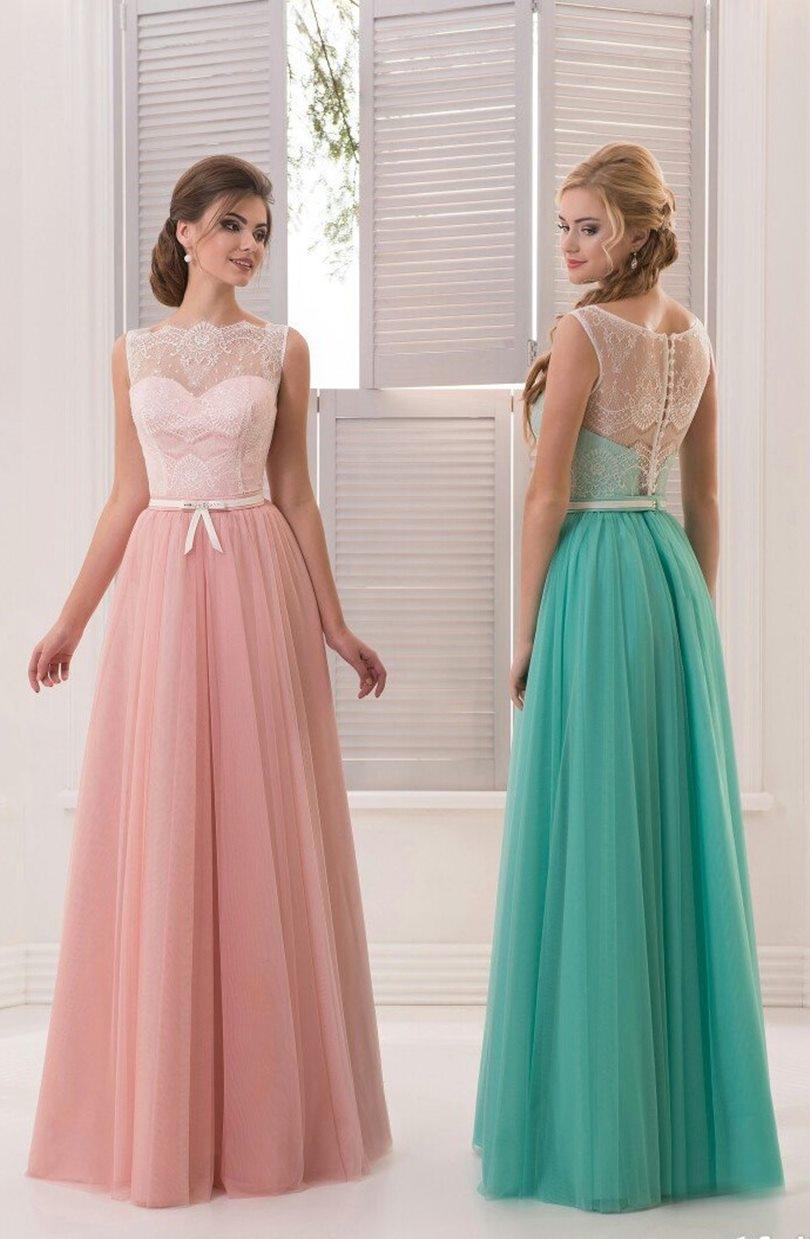Vestidos De Madrina Color Coral Vestidos de Dama de Gasa